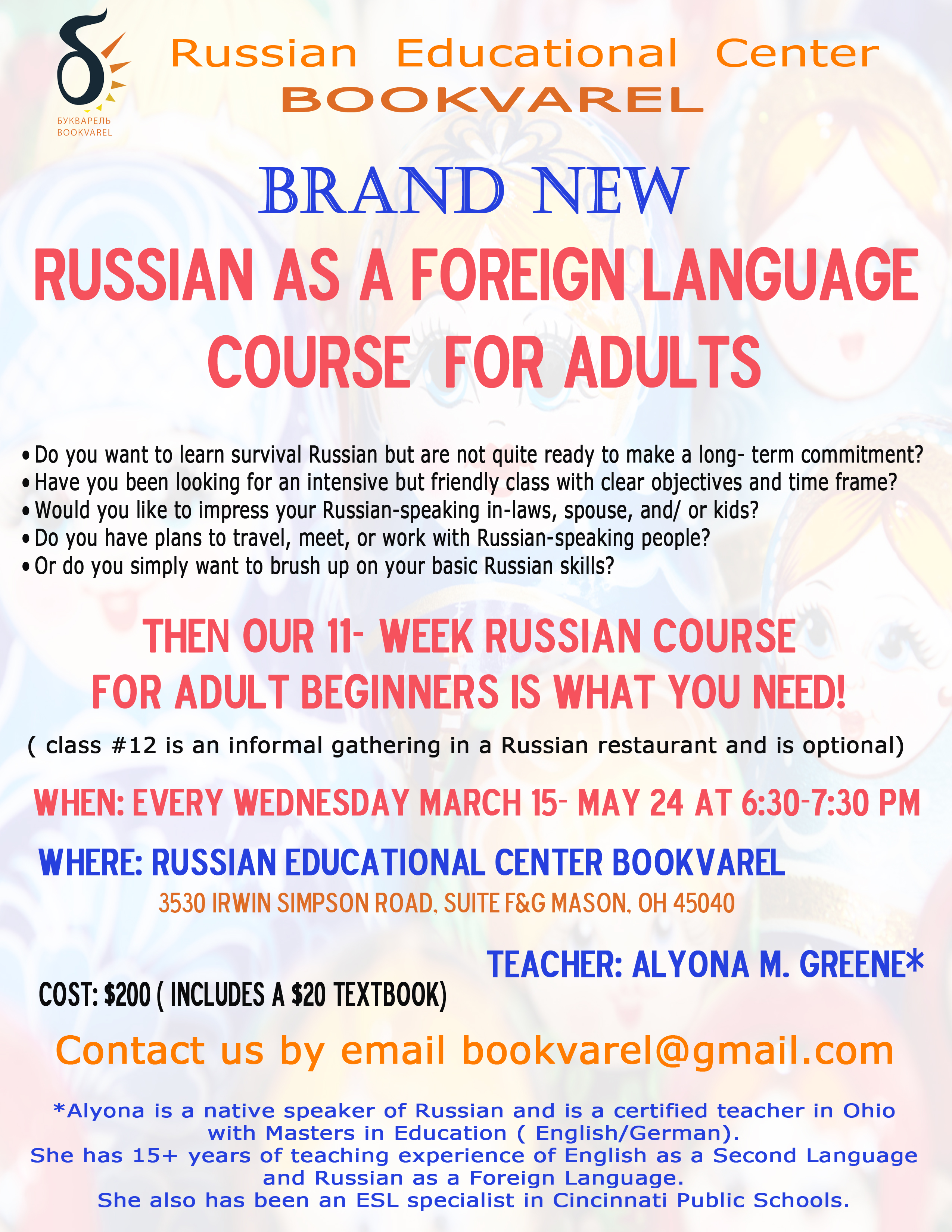 During Your Russian Course Why